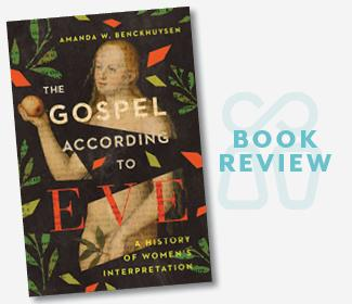 Book Review text with cover of The Gospel According to Eve