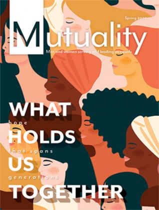 Cover of Spring 2020 Issue of Mutuality