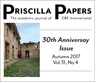Priscilla Papers Autumn 2017 Volume 31 Number 4