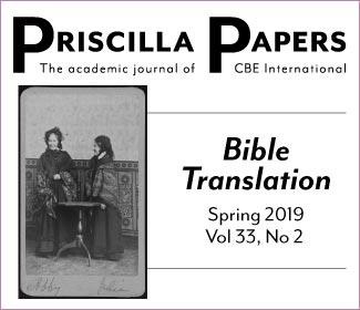 Priscilla Papers Volume 33 Spring 2019