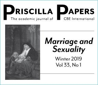 Priscilla Papers, Volume 33, Winter 2019