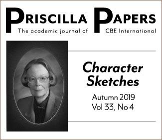 Priscilla Papers, autumn 2019 volume 33 number 4