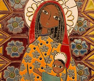 Mosaic of Mary