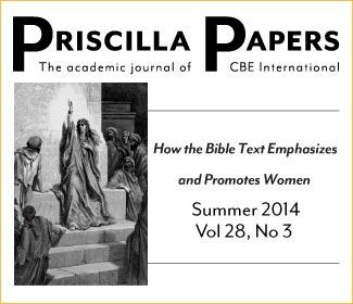 Priscilla Papers Summer 2014 Volume 3
