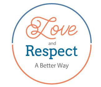 "An illustrated circle with ""Love and Respect A Better Way"" text inside of it"