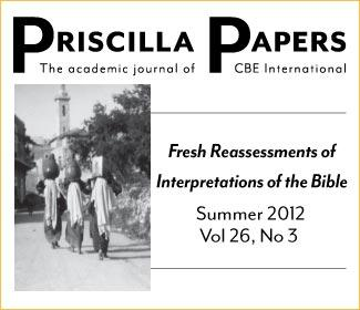 Priscilla Papers Summer 2012 Volume 26 Number 3