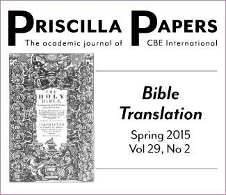 Priscilla Papers Spring 2015 Volume 29 Number 2