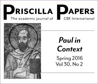 Priscilla Papers Spring 2016 Volume 30 Number 2