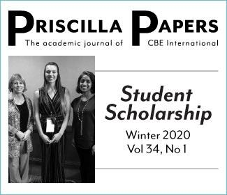 Priscilla Papers Volume 24 Number 1 Winter 2020
