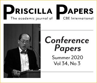 Priscilla Papers Summer 2020 Volume 34 Number 3, Conference Papers