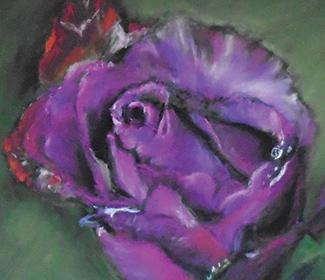 Painting of a purple rose