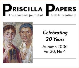 Priscilla Papers Autumn 2006 Volume 20 Issue 4