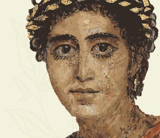 Painting of an ancient Roman woman
