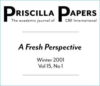 Priscilla Papers Winter 2001 Volume 15 Issue 1
