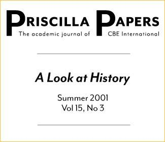 Priscilla Papers Summer 2001 Volume 15 Issue 3