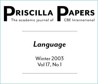 Priscilla Papers Winter 2003 Volume 17 Issue 1