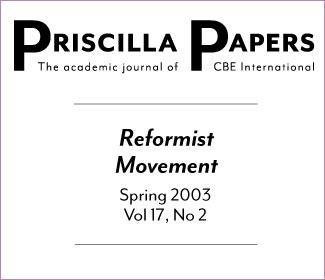Priscilla Papers Spring 2003 Volume 17 Issue 2