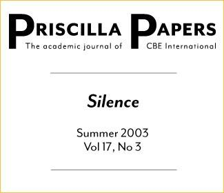 Priscilla Papers Summer 2003 Volume 17 Issue 3