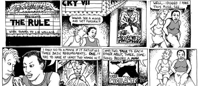 The Dykes to Watch Out For comic strip that the Bechdel test originated from