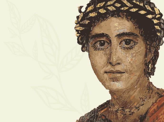 Ancient roman portrait of a young woman.